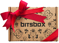 A bitsbox with a bow on it