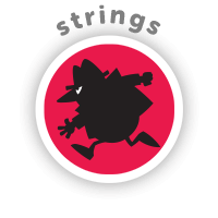 Bitsbox Level 11 teaches strings.
