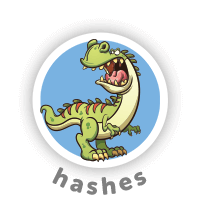 Bitsbox Level 12 teaches hashes.