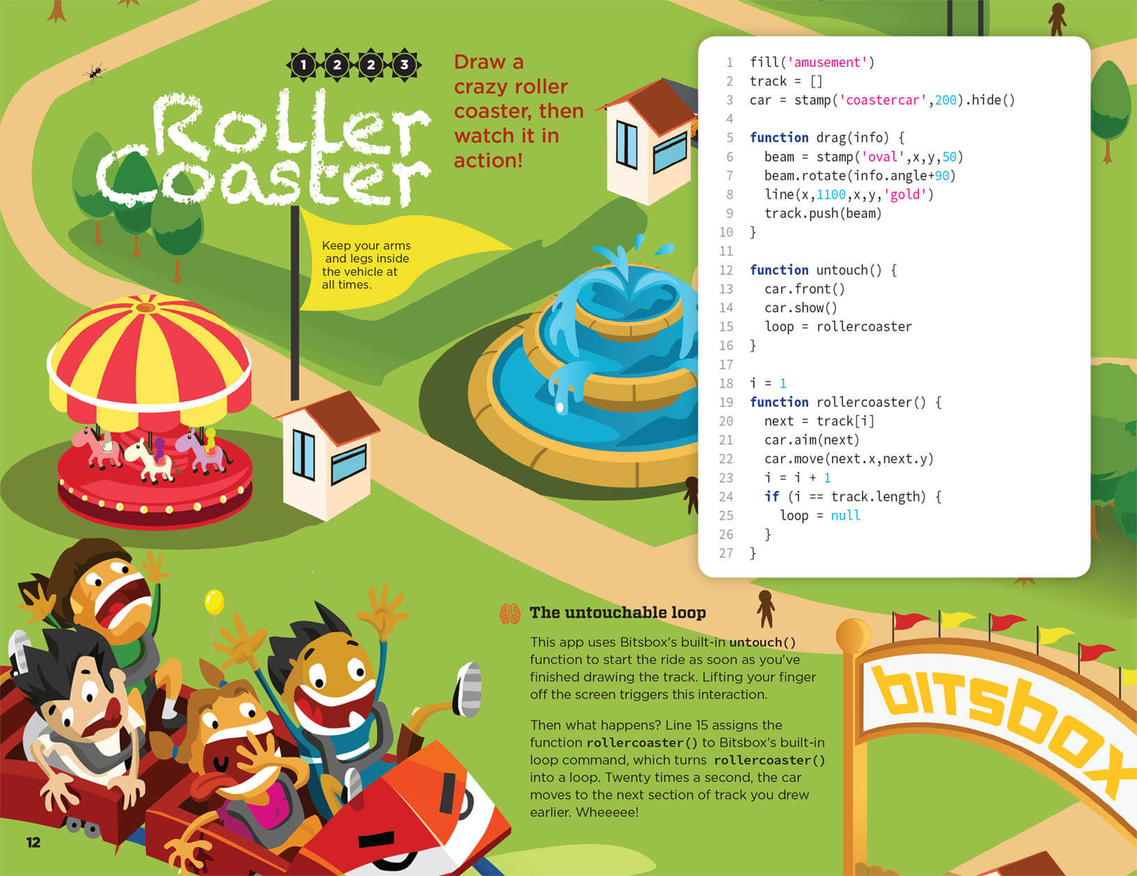 Build a Roller Coaster in Javascript.